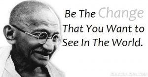 Gandhi change